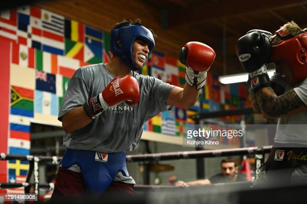 Boxer Ryan Garcia is photographed for Sports Illustrated on November 2, 2020 in California. CREDIT MUST READ: Kohjiro Kinno/Sports Illustrated via...