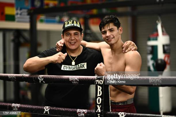 Boxer Ryan Garcia is photographed with trainer Eddy Reynoso for Sports Illustrated on November 2, 2020 in California. CREDIT MUST READ: Kohjiro...