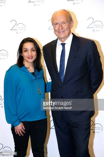 Boxer Sarah Ourahmoune and Chairman Chief Executive Officer of L'Oreal and Chairman of the L'Oreal Foundation JeanPaul Agon attend the 2018 L'Oreal...