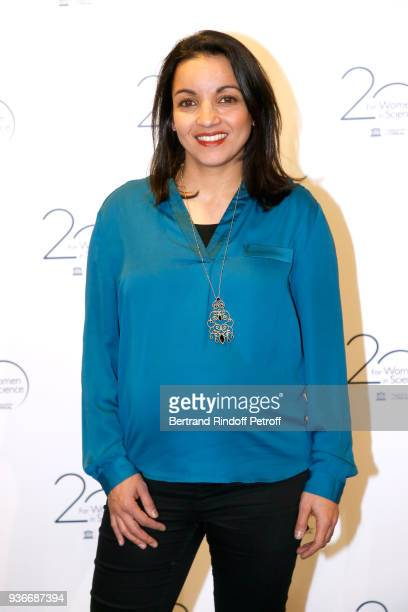 Boxer Sarah Ourahmoune attends the 2018 L'Oreal UNESCO for Women in Science Awards Ceremony at UNESCO on March 22 2018 in Paris France
