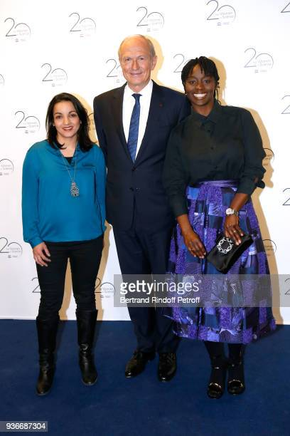 Boxer Sarah Ourahmoune Chairman Chief Executive Officer of L'Oreal and Chairman of the L'Oreal Foundation JeanPaul Agon and actress Aissa Maiga...