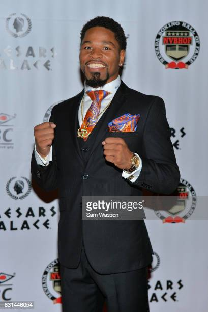 Boxer Shawn Porter arrives at the fifth annual Nevada Boxing Hall of Fame induction gala at Caesars Palace on August 12 2017 in Las Vegas Nevada