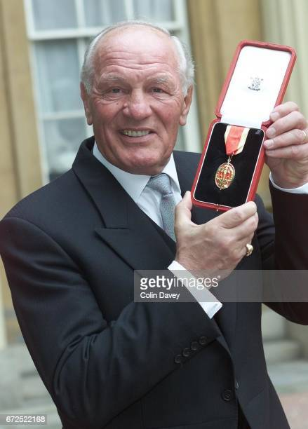 Boxer Sir Henry Cooper after receiving a knighthood from the Queen at Buckingham Palace London 22nd Fenruary 2000
