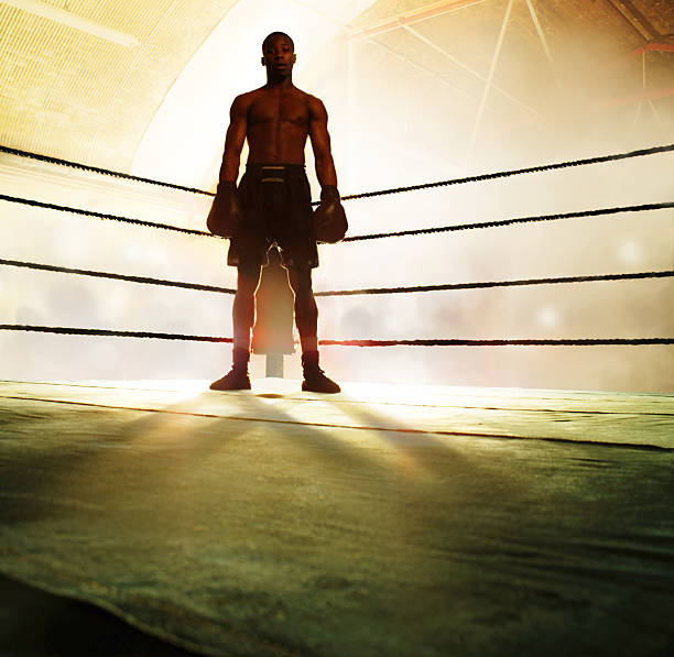 Boxer Standing In Corner Of Ring, Portrait Wall Art