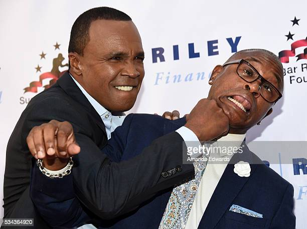Boxer Sugar Ray Leonard and comedian Tommy Davidson arrive at the 7th Annual Big Fighters Big Cause Charity Boxing Night Benefiting The Sugar Ray...