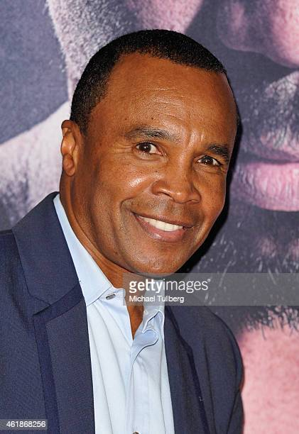 Boxer Sugar Ray Leonard attends the premiere of the new film 'Manny' at TCL Chinese Theatre on January 20 2015 in Hollywood California