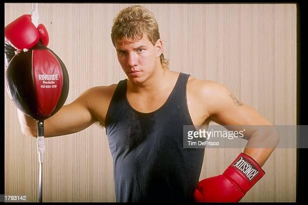 Boxer Tommy Morrison Mandatory Credit Tim de Frisco /Allsport