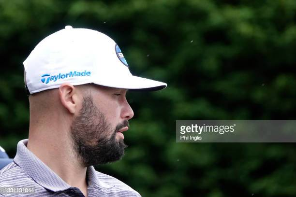 Boxer, Tony Bellew in action during the ProAm ahead of the Staysure PGA Seniors Championship at Formby Golf Club on July 28, 2021 in Formby, England.