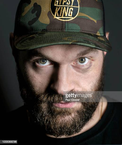 Boxer Tyson Fury is photographed for the Telegraph on August 8 2018 in Manchester England