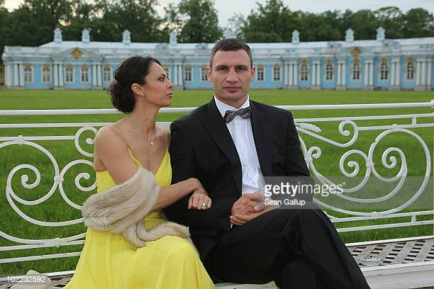 Boxer Vitali Klitschko and wife Natalia attend the Mariinsky Ball of Montblanc White Nights Festival at Catherine Palace on June 19 2010 in Pushkin...