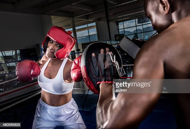 Boxer avec l'entraîneur
