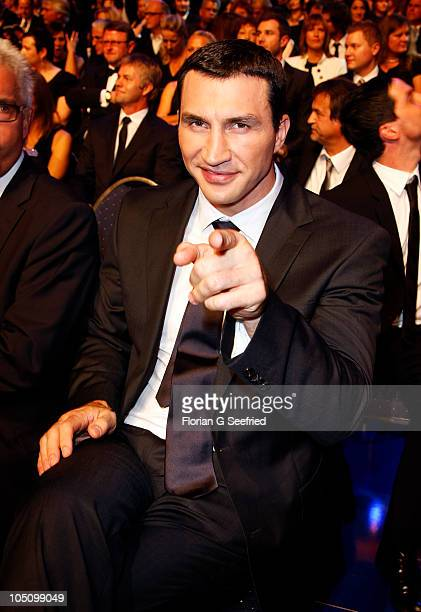 Boxer Wladimir Klitschko attends the German TV Award 2010 at Coloneum on October 9 2010 in Cologne Germany