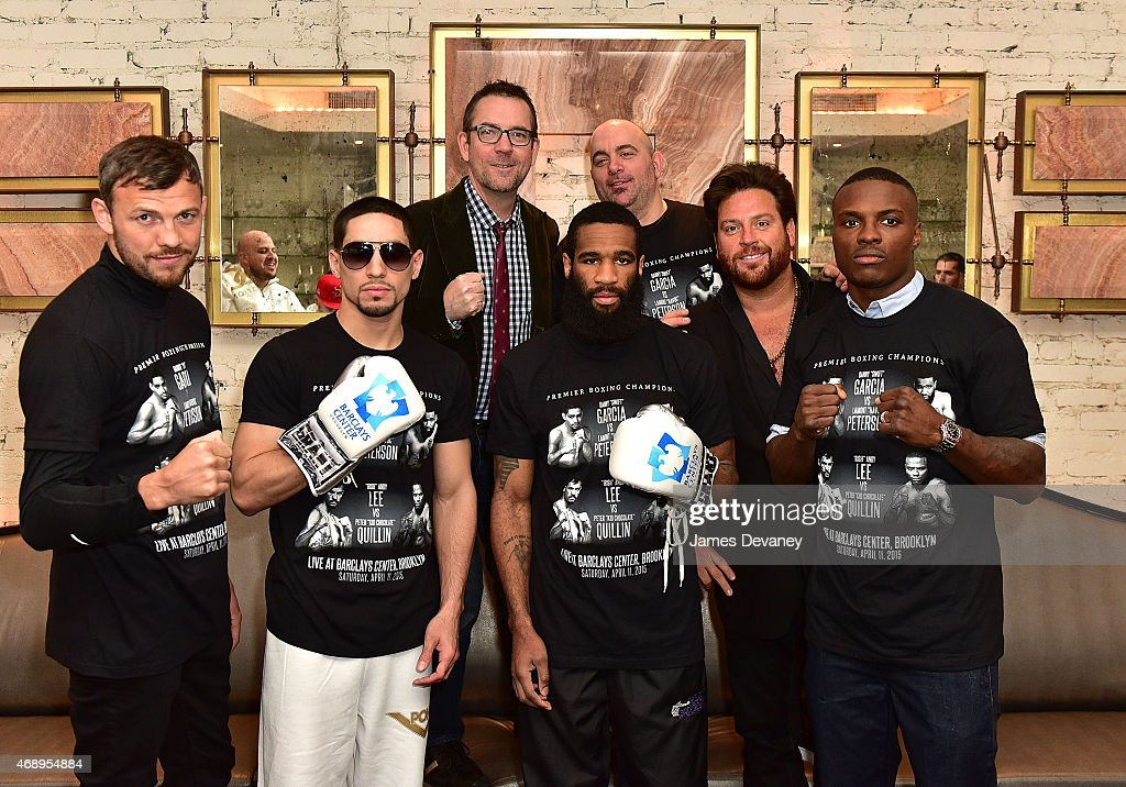 """Danny Garcia, Lamont Peterson, Andy Lee And Peter Quillin Photo Opp With """"Chopped"""" Judges"""