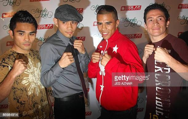 "Boxers Filipino-American Brian ""the Hawaiian Punch"" Viloria, Filipino-American International Boxing Federation flyweight title holder Nonito Donaire,..."