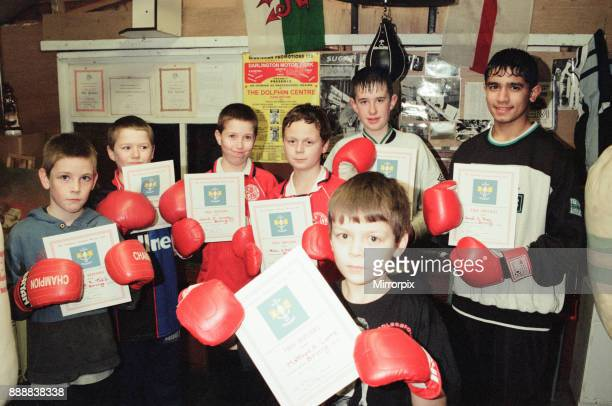 Boxers from Stockton ABC who have receved their bronze certificates Front is Matthew Currie with Ashley Todd Matthew Crosby David Crosby Adam...