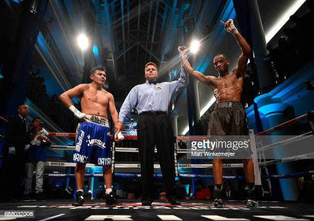 Boxers Roberto Pucheta and Kevin Rivers Jr attend the B Riley Co 8th Annual Big Fighters Big Cause Charity Boxing Night benefiting the Sugar Ray...