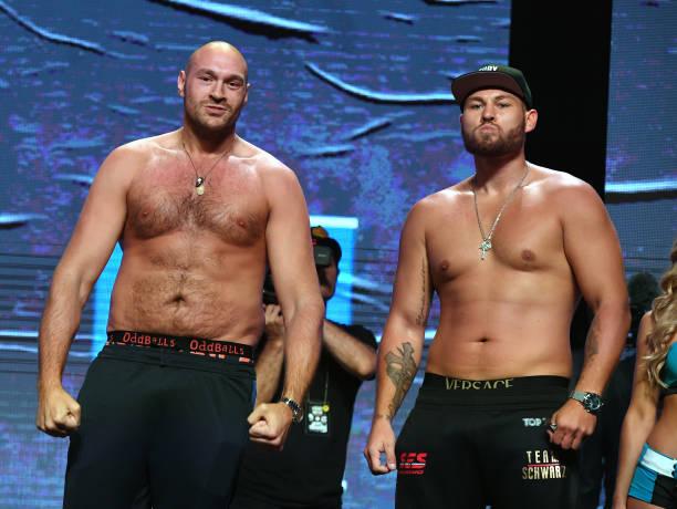 NV: Tyson Fury v Tom Schwarz - Weigh-In