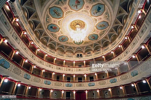 Boxes in Fenonia theatre 18231828 San Severino Marche Marche Italy 14th century