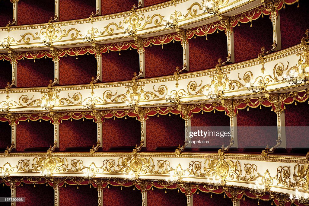 Boxes of Baroque Italian Theater : Stock Photo