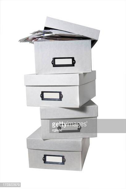 Boxes of Bills (WITH CLIPPING PATH)