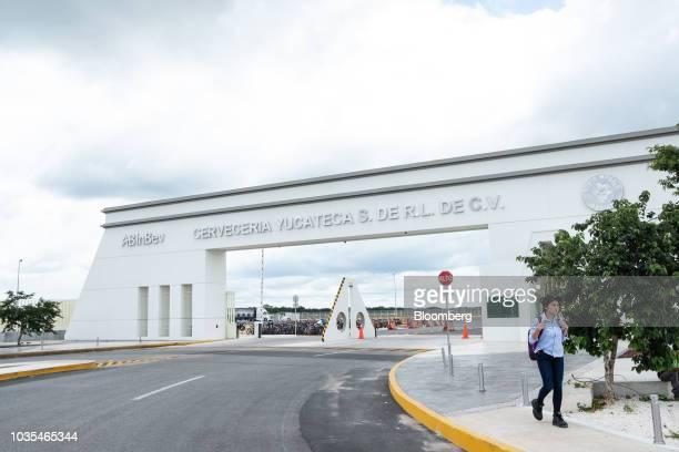 Boxes of Grupo Modelo SAB Corona brand beer move along a conveyor belt at the Cerveceria Yucateca AnheuserBusch InBev SA facility in Merida Mexico on...