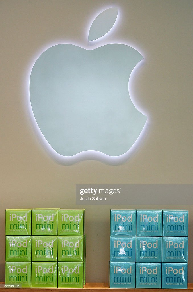 Boxes of iPod Minis are displayed at the Apple Store July 14, 2005 in San Francisco, California. Shares of Apple Computer surged Thursday after the company reported its best quarterly profit ever. Apple?s net income rose to $320 million, or 37 cents per share, up from the $61 million and 8 cents per share the company reported in the same quarter last year.