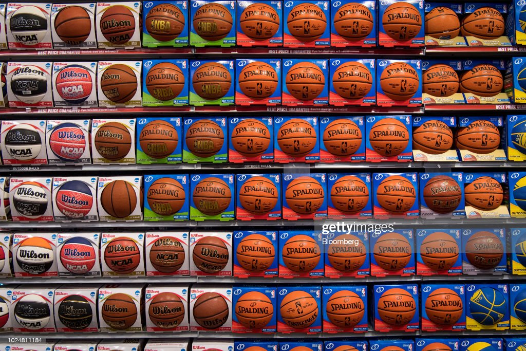 Inside A Dick's Sporting Goods Ahead Of Earnings Figures : News Photo