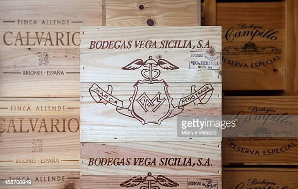 Schachteln besondere Weine