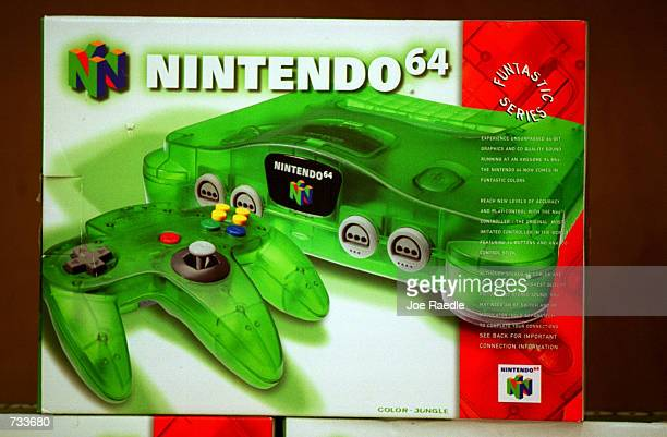 Boxes of the Nintendo 64 video game system sit on the shelves October 26 2000 at a Toys R Us store in El Paso Texas The Nintendo and Sega Dreamcast...