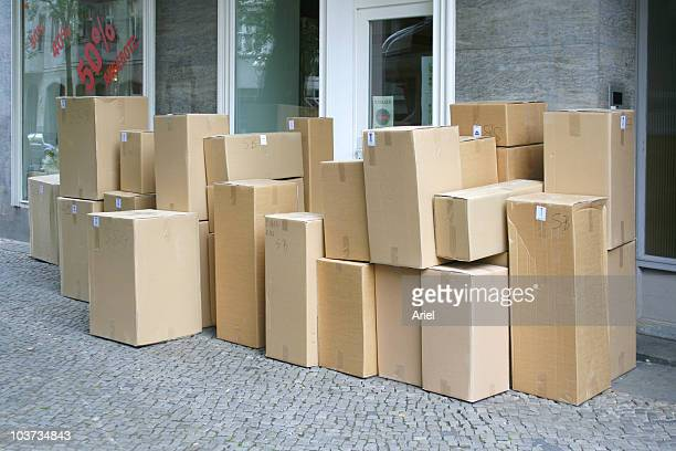 Boxes on the street