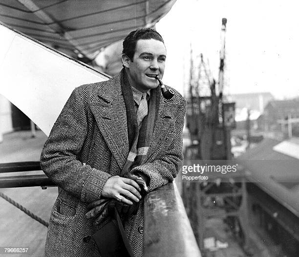 Boxing 3rd March 1937 A picture of Irish heavyweight boxer Jack Doyle smoking a pipe