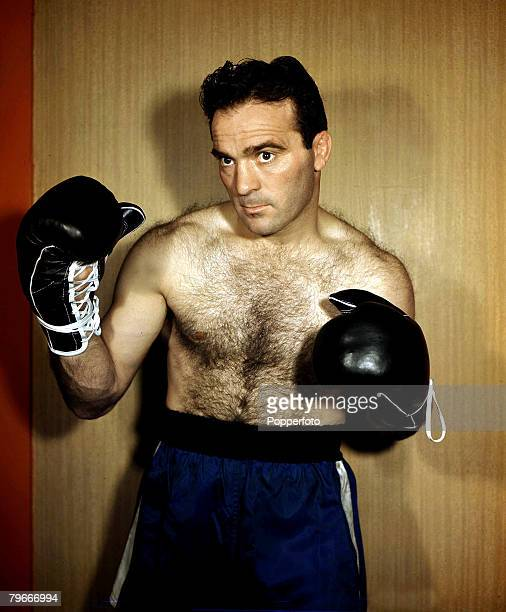 Boxing A picture of French middleweight boxer Marcel Cerdan posing in true fight mode Cerdan was killed in an air crash in 1949