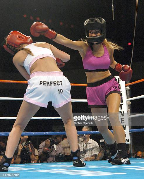 Boxing action during Perfect 10 Magazine Model Boxing at The Grand Olympic Auditorium in Los Angeles California United States