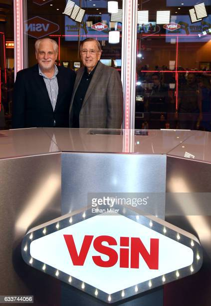 Boxing announcer and VSiN lead host Al Bernstein and retired sportscaster and VSiN managing editor and lead host Brent Musburger unveil the VSiN...