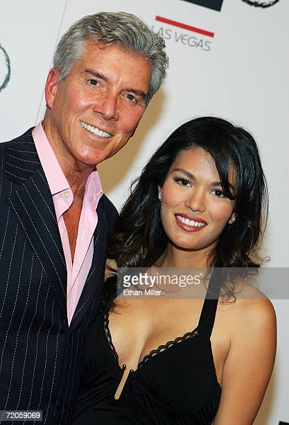Boxing announcer Michael Buffer and Christine Prado arrive at the Tao Nightclub at the Venetian Resort Hotel Casino during the club's anniversary...