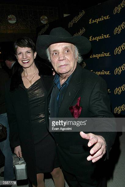 Boxing champ Jake LaMotta and wife attend Esquire Magazine's 70th Anniversary in conjunction with PJ Clarke's grand reopening party February 20 2003...