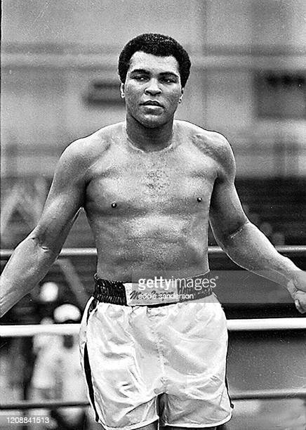 Boxing champion and legend Muhammad Ali in the ring during training for his fight with Larry Holmes at Caesars Palace Resort and Hotel in Las Vegas,...