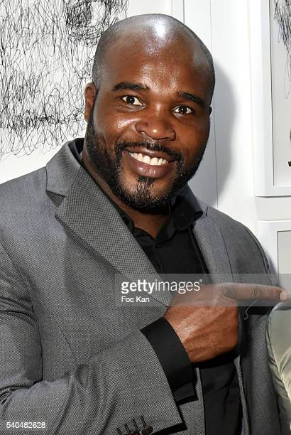 Boxing champion Jean Marc Mormeck attends Hom Nguyen Exhibition Preview at Espace YoYo Palais de Tokyo on June 15 2016 in Paris France