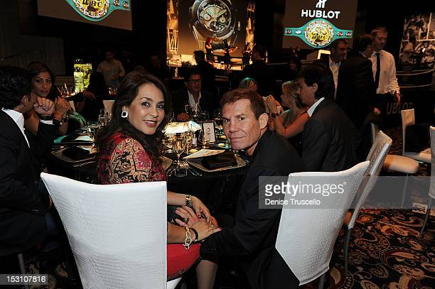 Boxing champion Julio Cesar Chavez attends A Legendary Evening With Hublot And WBC at Bellagio Las Vegas on September 29 2012 in Las Vegas Nevada