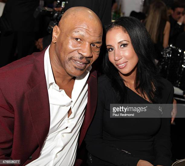 Boxing champion Mike Tyson and his wife Lakiha 'Kiki' Spicer attending the 15th Annual Academy Awards Viewing Party Benefiting Children Uniting...