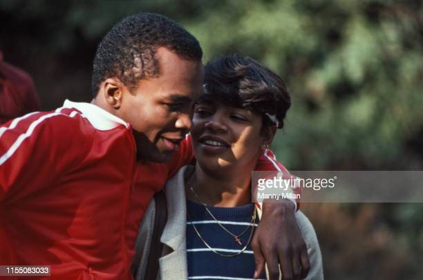 Close up portrait of Sugar Ray Leonard with his wife Juanita Wilkinson at home CREDIT Manny Millan