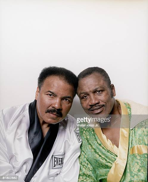 Boxing Closeup portrait of Muhammad Ali and Joe Frazier Philadelphia PA 10/2/2003