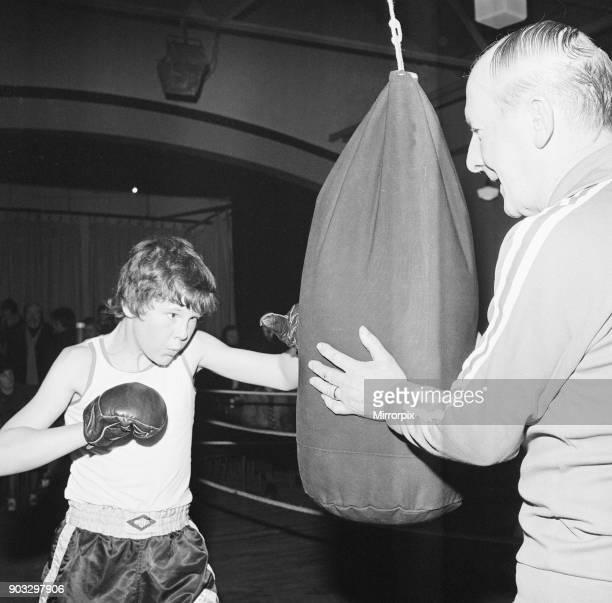 Boxing Club, Stockton, County Durham, North East England, 1975.