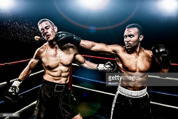 boxing combat - beaten stock photos and pictures