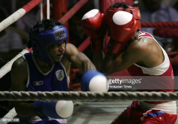 Boxing Fly 52kg Mumbai Mayor's Super Cup final Kolre Sanjay V/S Santosh.