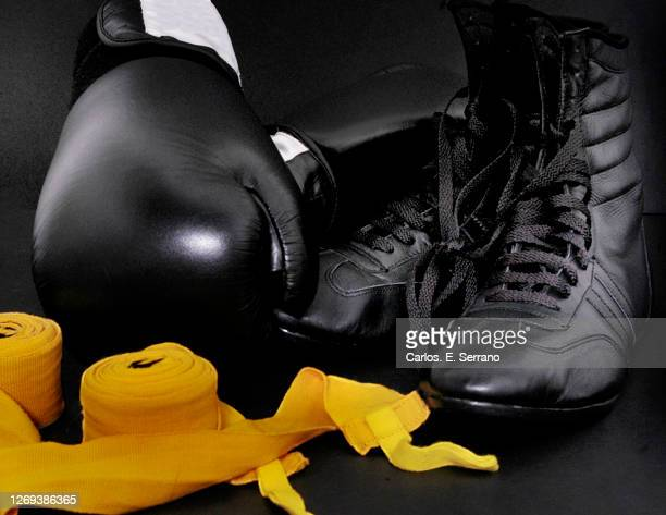 boxing gear - lace glove stock pictures, royalty-free photos & images