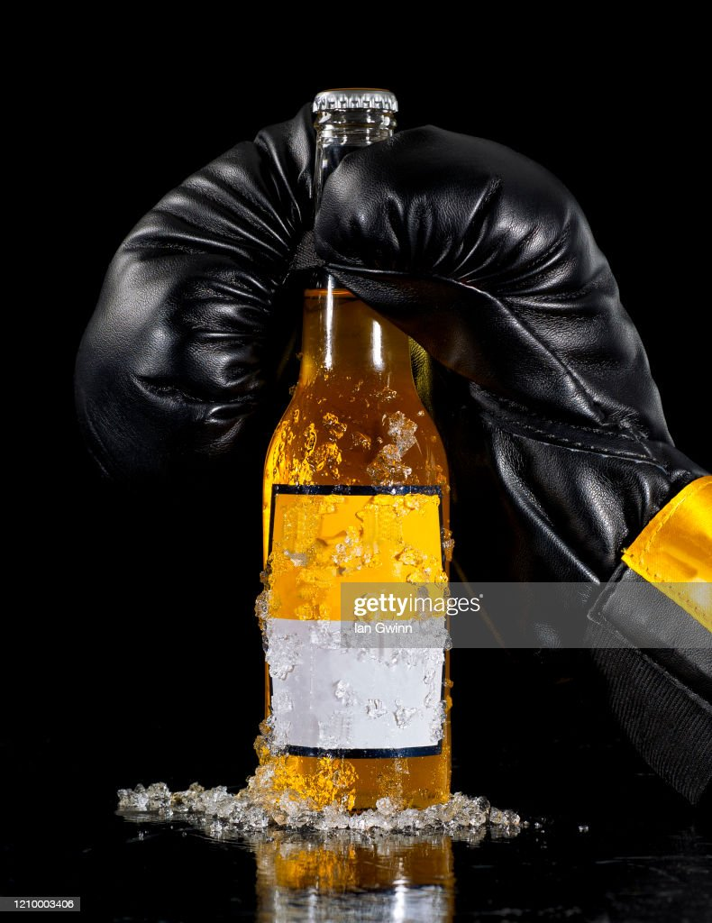 Boxing Glove and Beer : Stock Photo