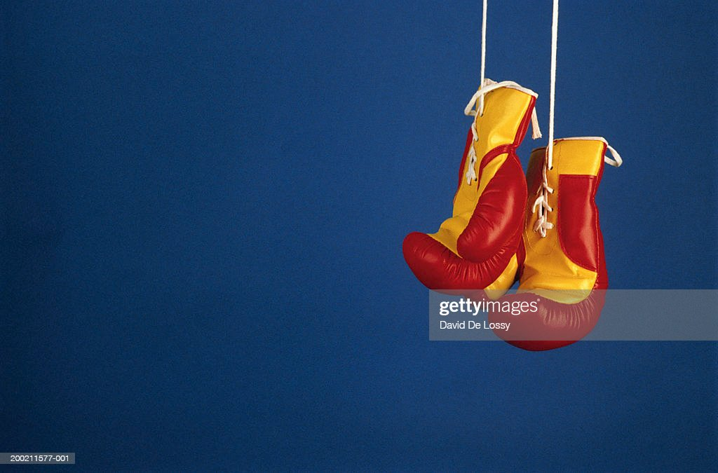 Boxing gloves, close up : Stock Photo