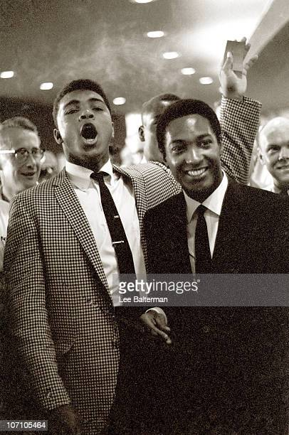 Heavyweight Muhammad Ali with singer Sam Cooke during Floyd Patterson vs Sonny Liston fight at the Convention Center Las Vegas NV 7/23/1963 CREDIT...
