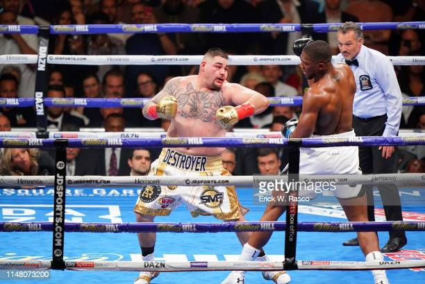 IBF / IBO / WBA / WBO Heavyweight Title Andy Ruiz Jr in action vs Anthony Joshua at Madison Square Garden New York NY CREDIT Erick W Rasco